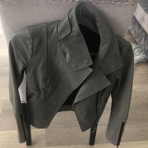 Mackage Kenya Leather Jacket Grey - XXS